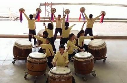 "Coretronic 2017 ""Exchange Love and Warm on X'mas""- War Drums Show by Miaoli County Ping-Ding Elementary School"